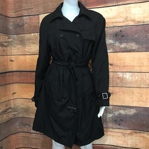 Black Rivet Trench Coat&Jacket Sz L